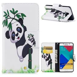 Bamboo Panda Leather Wallet Case for Samsung Galaxy A5 2016 A510