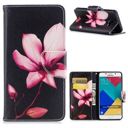 Lotus Flower Leather Wallet Case for Samsung Galaxy A5 2016 A510