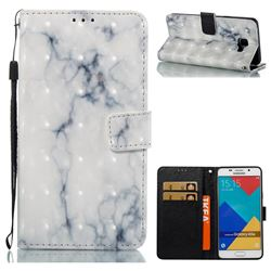White Gray Marble 3D Painted Leather Wallet Case for Samsung Galaxy A5 2016 A510
