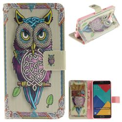 Weave Owl PU Leather Wallet Case for Samsung Galaxy A5 2016 A510