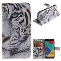 White Tiger PU Leather Wallet Case for Samsung Galaxy A5 2016 A510