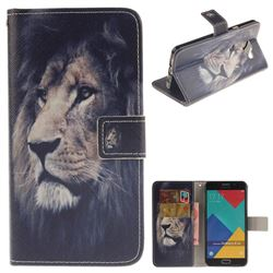 Lion Face PU Leather Wallet Case for Samsung Galaxy A5 2016 A510