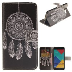 Black Wind Chimes PU Leather Wallet Case for Samsung Galaxy A5 2016 A510