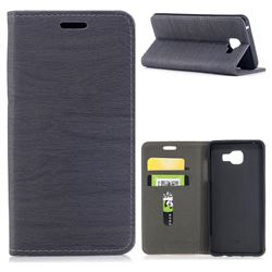 Tree Bark Pattern Automatic suction Leather Wallet Case for Samsung Galaxy A5 2016 A510 - Gray