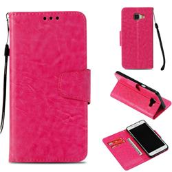 Retro Phantom Smooth PU Leather Wallet Holster Case for Samsung Galaxy A5 2016 A510 - Rose