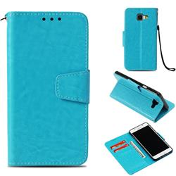 Retro Phantom Smooth PU Leather Wallet Holster Case for Samsung Galaxy A5 2016 A510 - Sky Blue