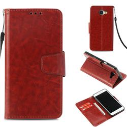 Retro Phantom Smooth PU Leather Wallet Holster Case for Samsung Galaxy A5 2016 A510 - Brown