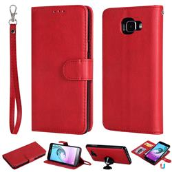 Retro Greek Detachable Magnetic PU Leather Wallet Phone Case for Samsung Galaxy A5 2016 A510 - Red