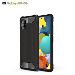King Kong Armor Premium Shockproof Dual Layer Rugged Hard Cover for Samsung Galaxy A51 5G - Black Gold