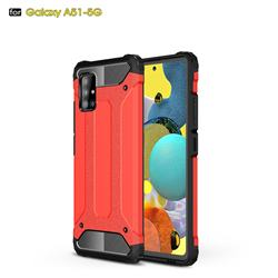 King Kong Armor Premium Shockproof Dual Layer Rugged Hard Cover for Samsung Galaxy A51 5G - Big Red
