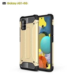King Kong Armor Premium Shockproof Dual Layer Rugged Hard Cover for Samsung Galaxy A51 5G - Champagne Gold