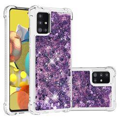 Dynamic Liquid Glitter Sand Quicksand Star TPU Case for Samsung Galaxy A51 5G - Purple