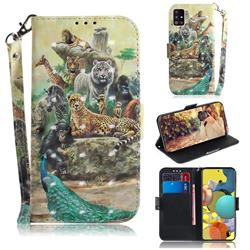 Beast Zoo 3D Painted Leather Wallet Phone Case for Samsung Galaxy A51 5G