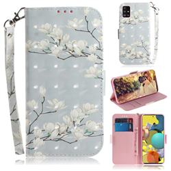 Magnolia Flower 3D Painted Leather Wallet Phone Case for Samsung Galaxy A51 5G