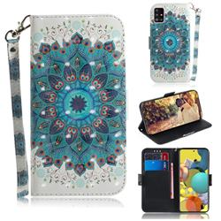Peacock Mandala 3D Painted Leather Wallet Phone Case for Samsung Galaxy A51 5G