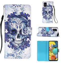Cloud Kito 3D Painted Leather Wallet Case for Samsung Galaxy A51 5G