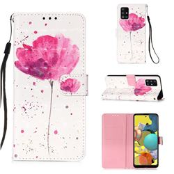 Watercolor 3D Painted Leather Wallet Case for Samsung Galaxy A51 5G