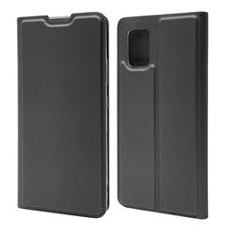 Ultra Slim Card Magnetic Automatic Suction Leather Wallet Case for Samsung Galaxy A51 5G - Star Grey
