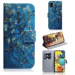 Apricot Tree PU Leather Wallet Case for Samsung Galaxy A51 5G