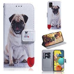 Pug Dog PU Leather Wallet Case for Samsung Galaxy A51 5G