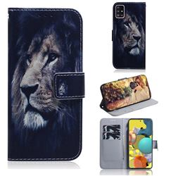 Lion Face PU Leather Wallet Case for Samsung Galaxy A51 5G