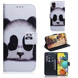 Sleeping Panda PU Leather Wallet Case for Samsung Galaxy A51 5G