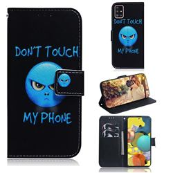 Not Touch My Phone PU Leather Wallet Case for Samsung Galaxy A51 5G