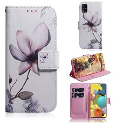 Magnolia Flower PU Leather Wallet Case for Samsung Galaxy A51 5G