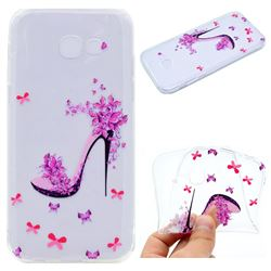 Petal High Heels Super Clear Soft TPU Back Cover for Samsung Galaxy A5 2017 A520