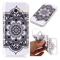Black Mandala Flower Super Clear Soft TPU Back Cover for Samsung Galaxy A5 2017 A520