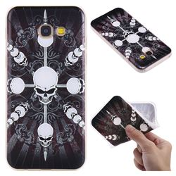 Compass Skulls 3D Relief Matte Soft TPU Back Cover for Samsung Galaxy A5 2017 A520