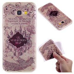 Castle The Marauders Map 3D Relief Matte Soft TPU Back Cover for Samsung Galaxy A5 2017 A520