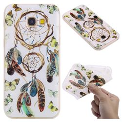 Color Wind Chimes 3D Relief Matte Soft TPU Back Cover for Samsung Galaxy A5 2017 A520