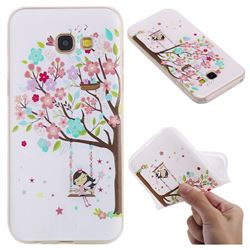 Tree and Girl 3D Relief Matte Soft TPU Back Cover for Samsung Galaxy A5 2017 A520