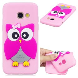 Pink Owl Soft 3D Silicone Case for Samsung Galaxy A5 2017 A520