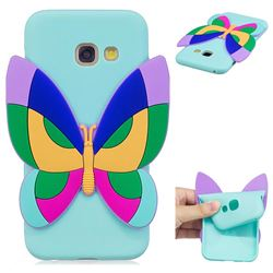 Rainbow Butterfly Soft 3D Silicone Case for Samsung Galaxy A5 2017 A520