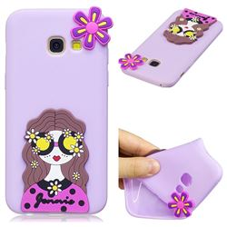 Violet Girl Soft 3D Silicone Case for Samsung Galaxy A5 2017 A520