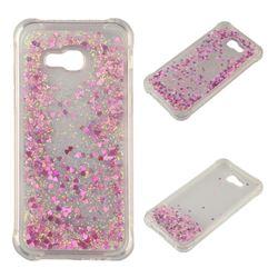 Dynamic Liquid Glitter Sand Quicksand Star TPU Case for Samsung Galaxy A5 2017 A520 - Rose