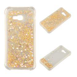 Dynamic Liquid Glitter Sand Quicksand Star TPU Case for Samsung Galaxy A5 2017 A520 - Diamond Gold