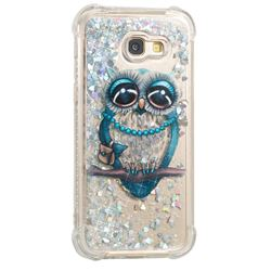 Sweet Gray Owl Dynamic Liquid Glitter Sand Quicksand Star TPU Case for Samsung Galaxy A5 2017 A520