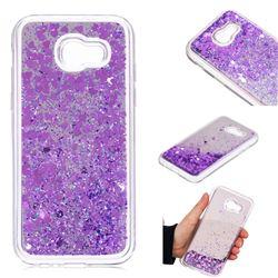 Glitter Sand Mirror Quicksand Dynamic Liquid Star TPU Case for Samsung Galaxy A5 2017 A520 - Purple