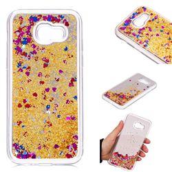 Glitter Sand Mirror Quicksand Dynamic Liquid Star TPU Case for Samsung Galaxy A5 2017 A520 - Yellow