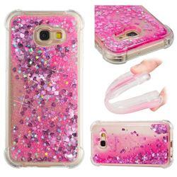 Dynamic Liquid Glitter Sand Quicksand TPU Case for Samsung Galaxy A5 2017 A520 - Pink Love Heart