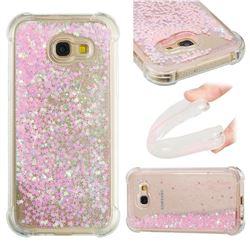 Dynamic Liquid Glitter Sand Quicksand TPU Case for Samsung Galaxy A5 2017 A520 - Silver Powder Star