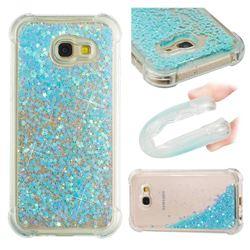 Dynamic Liquid Glitter Sand Quicksand TPU Case for Samsung Galaxy A5 2017 A520 - Silver Blue Star
