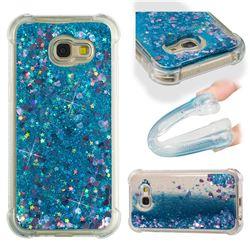 Dynamic Liquid Glitter Sand Quicksand TPU Case for Samsung Galaxy A5 2017 A520 - Blue Love Heart