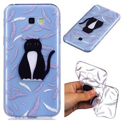 Feather Black Cat Super Clear Soft TPU Back Cover for Samsung Galaxy A5 2017 A520