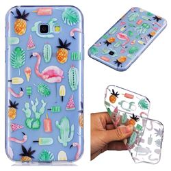 Cactus Flamingos Super Clear Soft TPU Back Cover for Samsung Galaxy A5 2017 A520