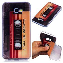 Retro Cassette Tape Super Clear Soft TPU Back Cover for Samsung Galaxy A5 2017 A520