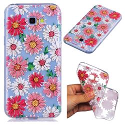 Chrysant Flower Super Clear Soft TPU Back Cover for Samsung Galaxy A5 2017 A520